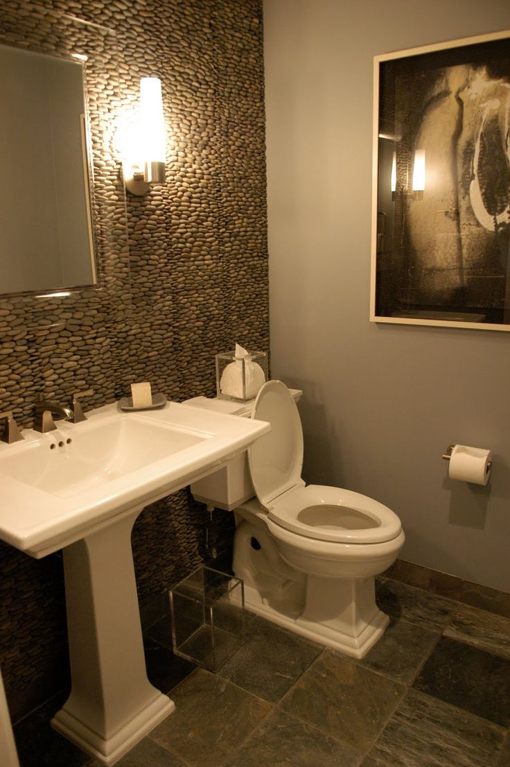 17 best ideas about small powder rooms on pinterest for Bathroom space ideas