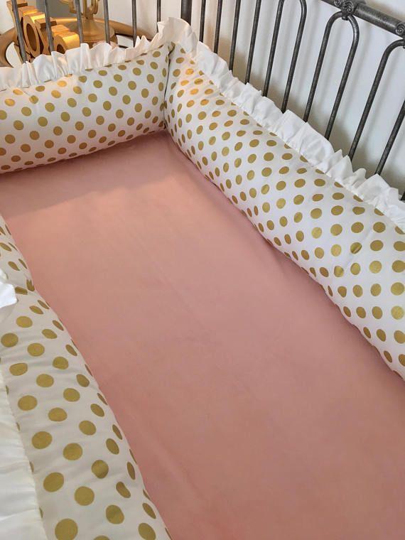 Baby Girl Crib Bumpers Gold Dot Crib Bumpers Bumper Guards Crib Bedding Girl Girl Crib Bedding Sets Baby Girl Crib Bedding Sets