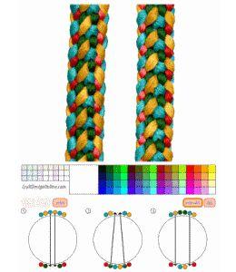 Kumihimo Patterns   Craft Design Online - tools to design kumihimo braids, plaits ...