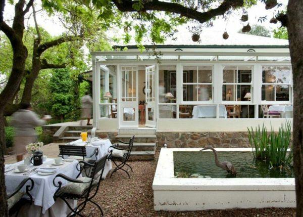 Die 25+ Besten Ideen Zu Bauernhaus Außenbereich Auf Pinterest ... Blockbohlenhaus Im Garten Funktional Ausenbereich