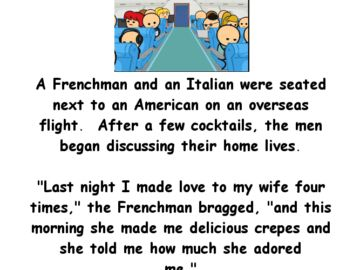 Funny Adult Joke Of The Day About 3 Men On A Plane