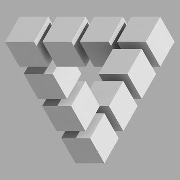 Impossible geometry geometr a pinterest illusions for Geometric illusion art