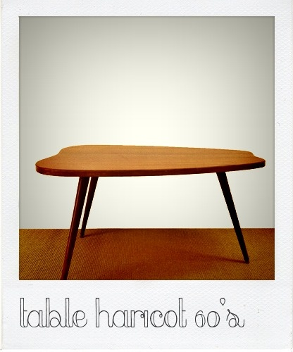 Table haricot 60 39 s deco table basse pinterest tables for Table basse haricot