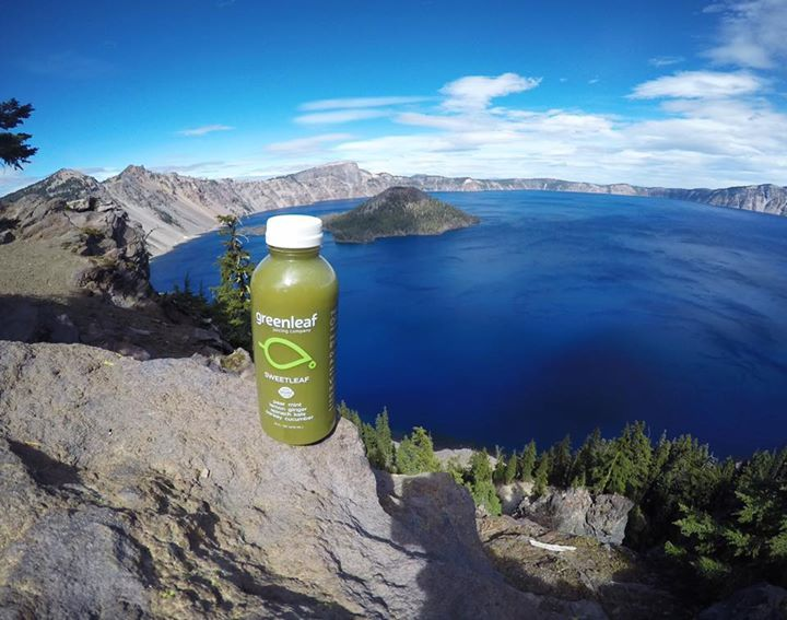 Find a view. #exploregon 🌲🌊   Get there with 2 pounds of fresh, organic fruits and vegetables in every bottle. greenleafjuice.com