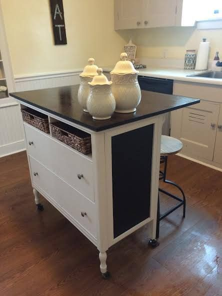 Unique Kitchen island From Repurposed Furniture