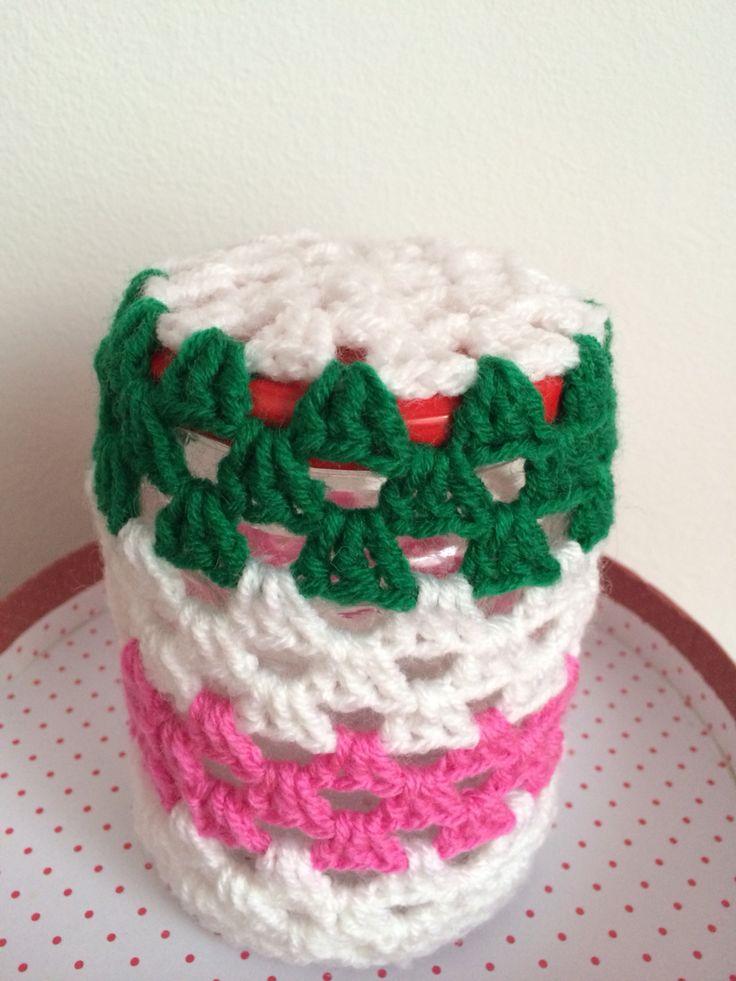 Crochet jar cover 1