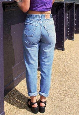 e9055cc7 Vintage+90's+Levi's+901+Blue+Highwaisted+Mom+Jeans | 80's/90 ...