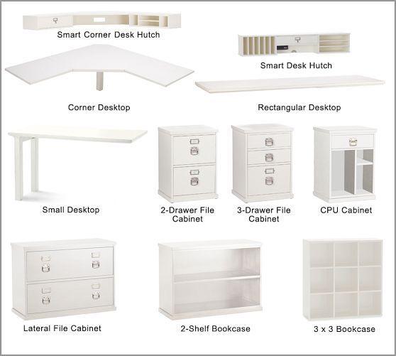 Desk With Hutch Decor Office Ideas