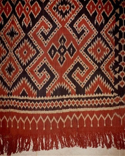 Pusaka Collection of Indonesian Ikat * Textile 064 Sulawesi Toraja Indonesia Warp ikat