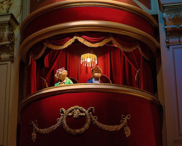 Waldorf & Statler in the Balcony at Muppet Vision 3-D at Disney's Hollywood Studios, Walt Disney World, FL