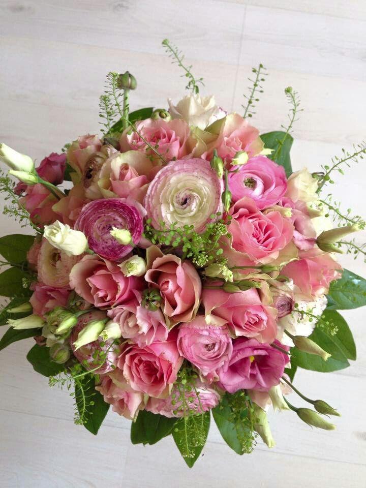 Handgebonden bruidsboeket #rose