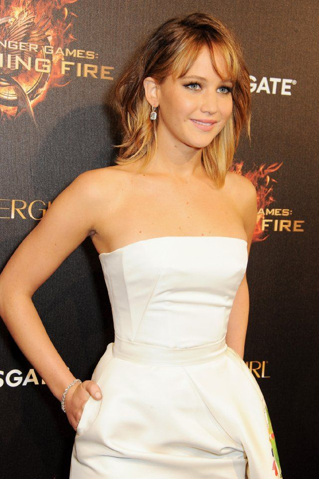 Jennifer Lawrence and Getty Images at event of The Hunger Games: Catching Fire