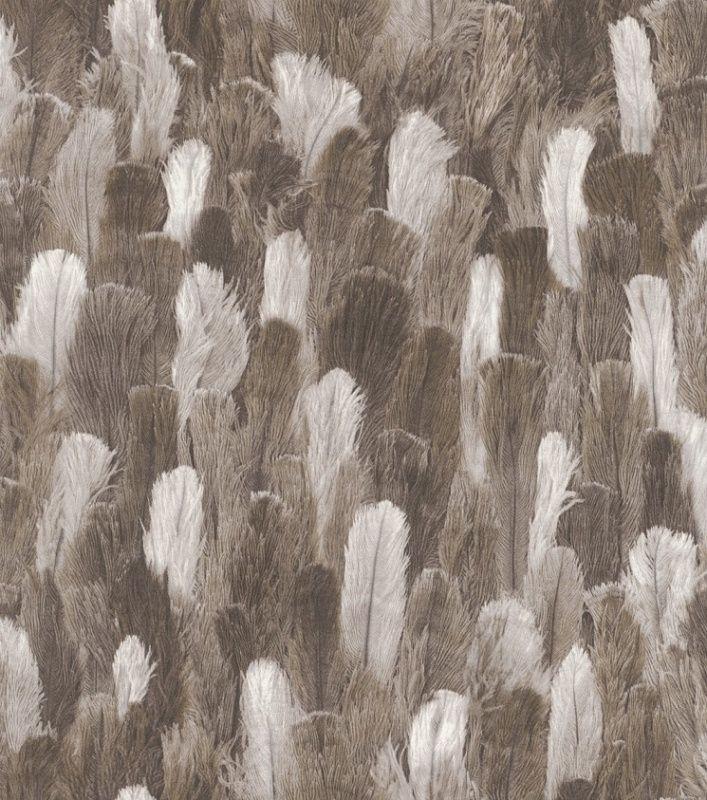 STRUISVOGELVEREN BEHANG - Rasch African Queen II 473322
