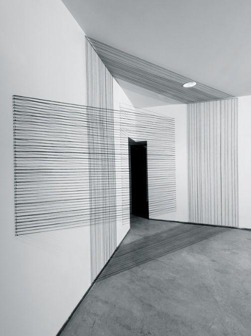 Eun Hye Kang | Within and Without, 2012 | Cotton Yarn minimal, minimalist, minimalism, art