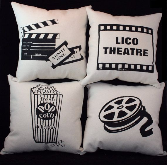 Set of 4 Theater Theatre Pillows PERSONALIZED 12 by ThePillowshack, $44.99