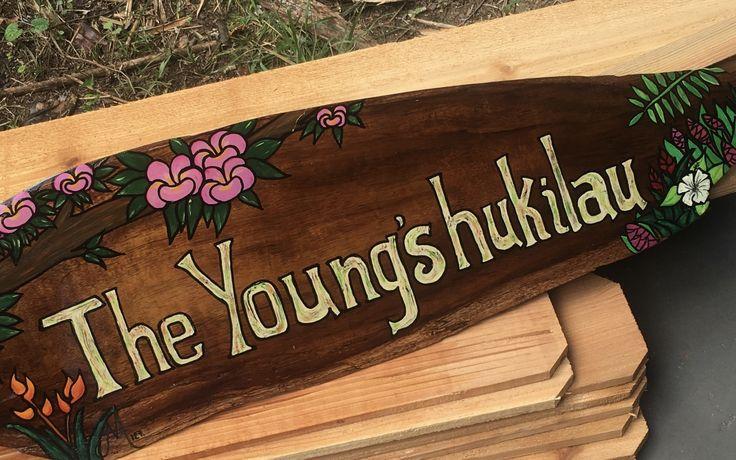 Custom Hawaiian Koa Wood Sign #glitzoncanvas