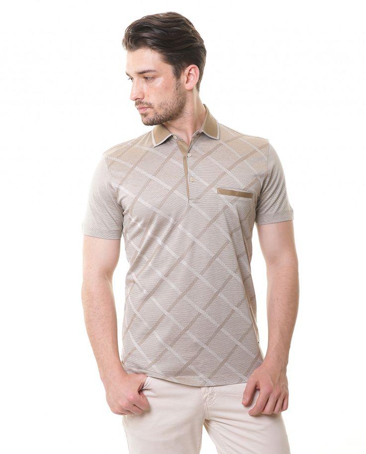 Karaca Erkek T-shirt-Bej #safari #mensfashion #tshirt #karaca #ciftgeyikkaraca www.karaca.com.tr