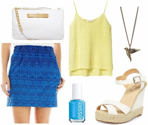 College fashion skirt dress