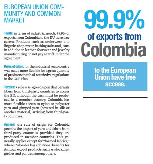 Advantages of the Free trade agreement between the European Union - Colombia and Peru!