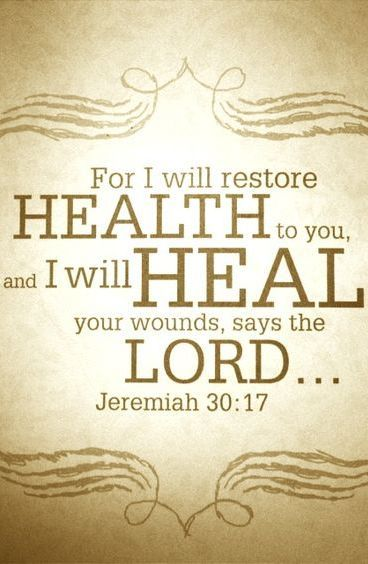 For I will restore you...