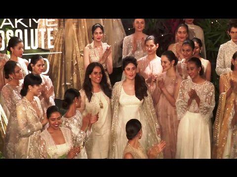 Kareena Kapoor's SENSATIONAL ramp walk at grand finale of Lakme Fashion Week 2017.