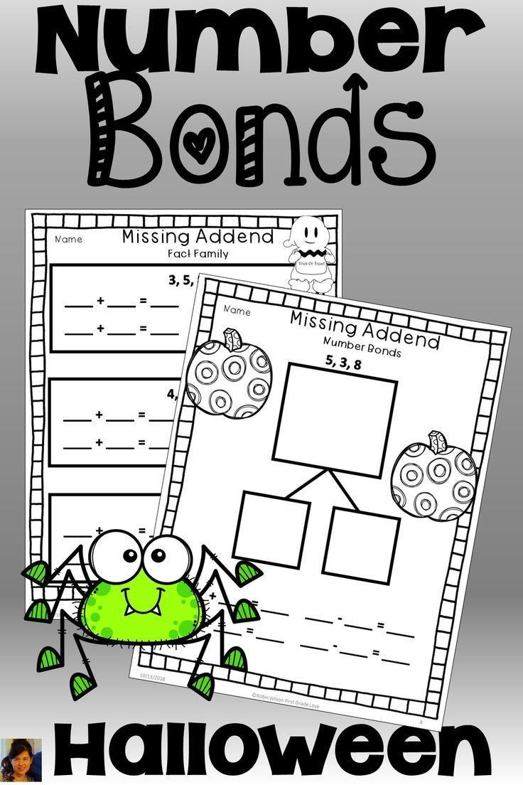 Teach Number Bonds Halloween Fun Numberbondsfirstgrade Numberbondsworksheets Third Grade Activities Number Bonds First Grade [ 1104 x 736 Pixel ]