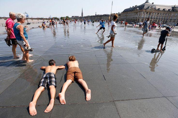 Аномальная жара в Европе БОРДО. ФРАНЦИЯ.