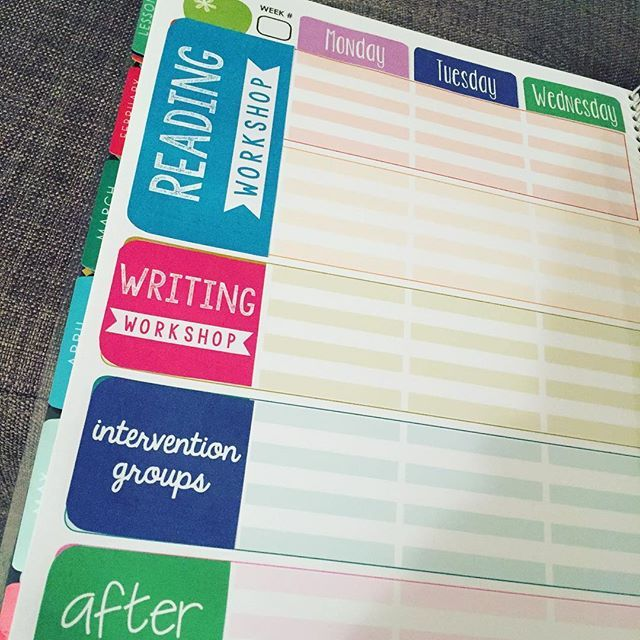 Just changing up my @erincondren teacher planner to suit me! For the life of me, I can't read lesson plans horizontally. And since I only teach 1 subject and an intervention group, I had to switch it up. I'm trying to print on the cheap so my colors are not quite what they should be and my hands are all sticky from the glue! #iteach456 #iteach5 #teacherlife #iteachfifth #teacherplanner