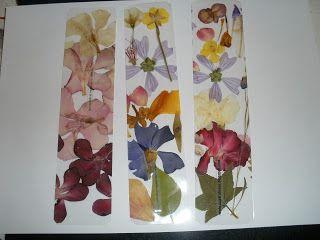 Marcapáginas flores secas