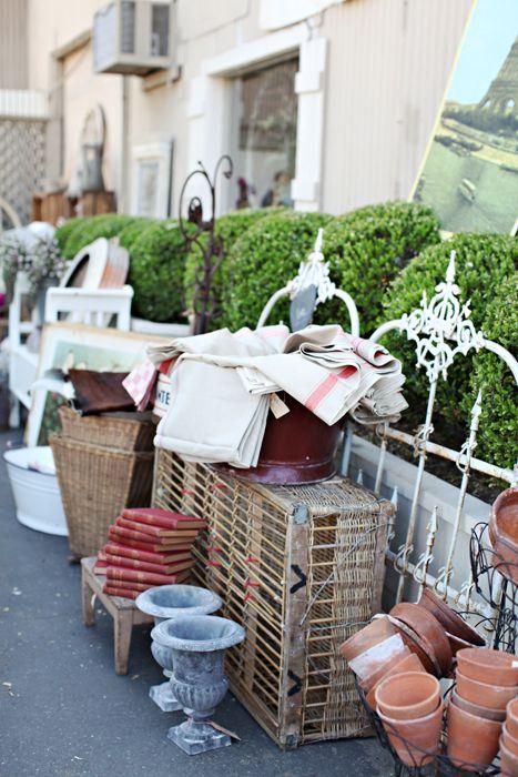 Dreamy Whites: Chateau Sonoma~ A French Flea Market...Today in Sonoma, CA