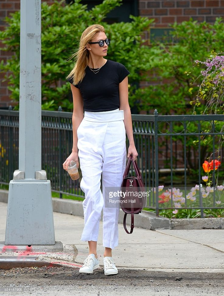 Actress Karlie Kloss is seen walking Soho on April 25, 2016 in New York City.
