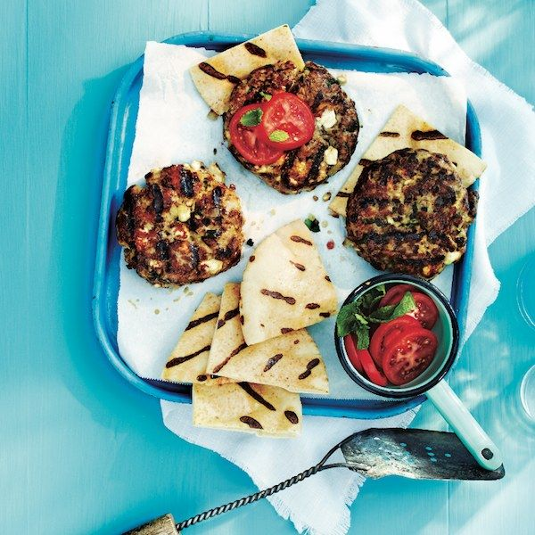 Serve satisfying Lamb burgers with feta and mint on crispy pitas as a super low-carb option. Find more inventive burger recipes at Chatelaine.com.