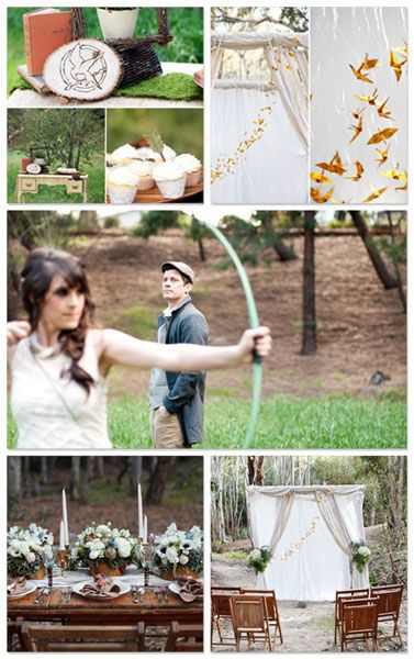 Vintage with a twist. Gorgeous Hunger Games inspired wedding.