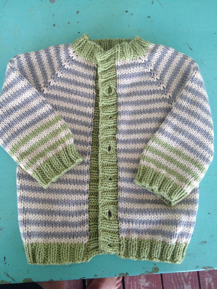 Basic Baby Raglan Cardigan Sweater | knitting | Pinterest ...