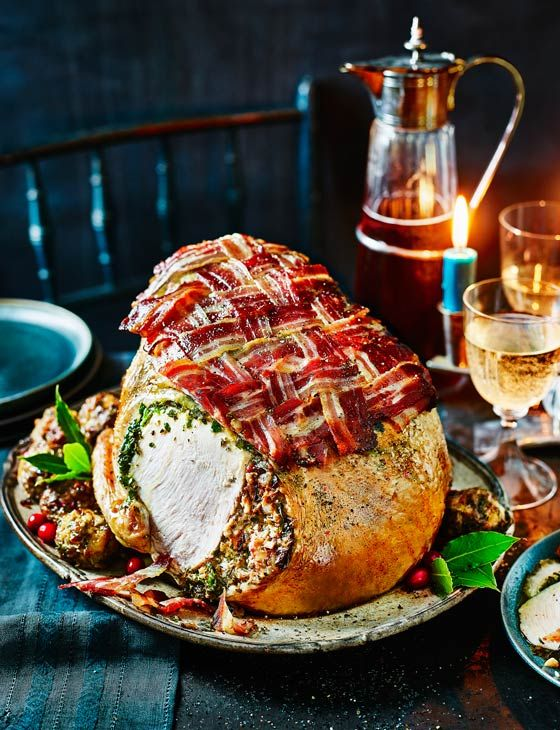 Roast turkey crown with herb butter - Sainsbury's Magazine