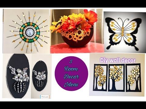 Diy Room Decor 5 Room Decorating Ideas Easy Craft At Home Fashion Pixies Home Decor Youtube Arts And Crafts House Handmade Crafts Easy Diy Crafts