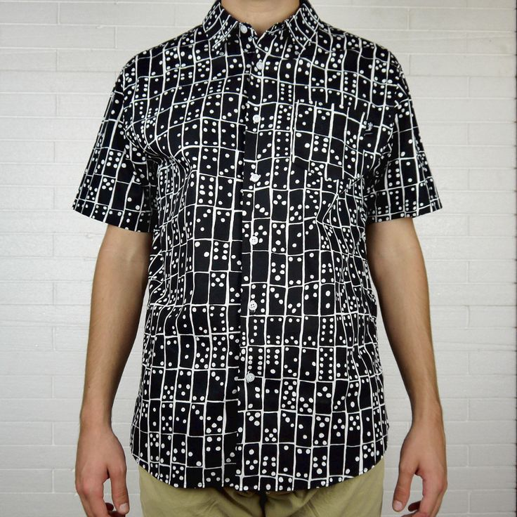 """STUSSY DOMINO SHIRT S/S """"BLACK"""" 
