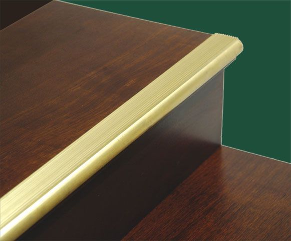 Solid Brass Stair Or Ladder Stair Nosing And Tread Step Cover