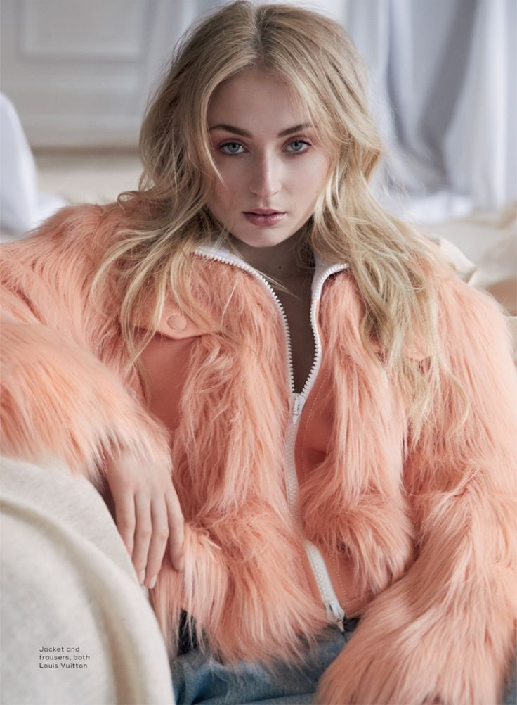 Sophie Turner Poses in Louis Vuitton's Fall Styles for Marie Claire UK