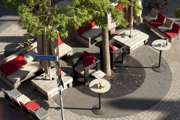 Stadscafe de Spaarbank, Tilburg (Big Pillows furniture) outdoor lounge terass rooftop view
