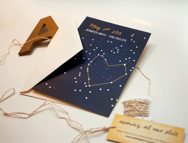 DIY wedding invitation - night sky wedding invitation - star gazing wedding invitation - PRINTABLE. $30.00, via Etsy.