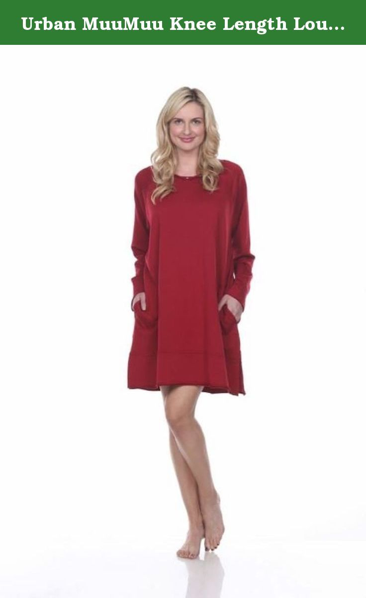 Urban MuuMuu Knee Length Lounge Tunic With Inset Pockets & Headband - Red. The most scrumptious way to lounge your nights and days away. This knee length, loose, oversized pullover with inset pockets is great on women of all shapes and sizes. Made with our special blend of Supima Cotton Modal and Spandex. Comes embellished by hand with an authentic Swarovski crystal button for a touch of sparkle. Uniquely wrapped and packaged with a matching headband. This product is proudly made in the USA.