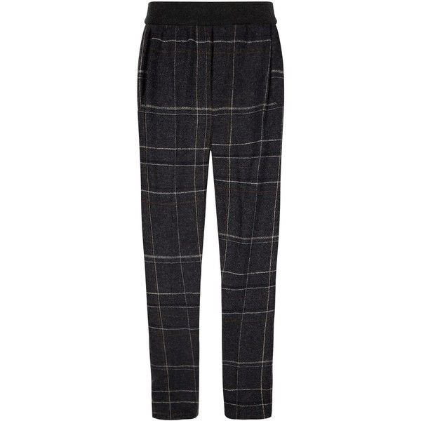 Stephan Schneider Plaid Trouser ($425) ❤ liked on Polyvore featuring men's fashion, men's clothing, men's pants, men's casual pants, mens tapered pants, mens plaid pants, mens tartan pants, mens elastic waist pants and mens casual wool pants