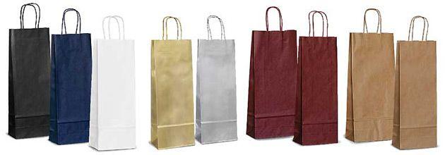 Упаковка (бумажные пакеты) под бутылку для вина