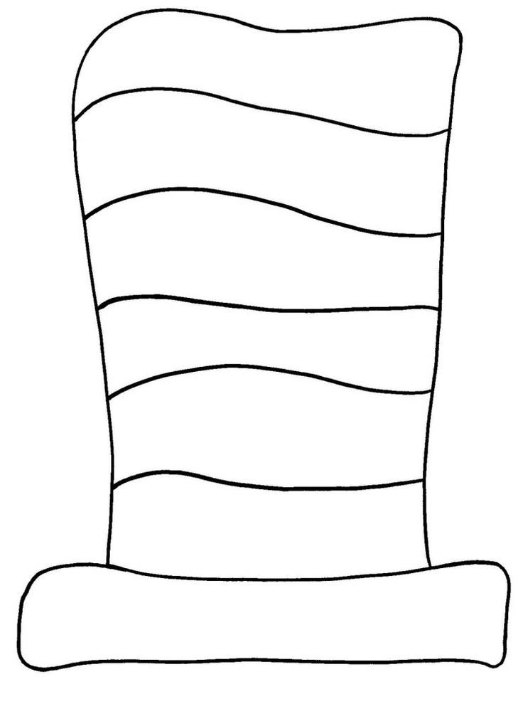 Dr. Seuss Hat Stencil