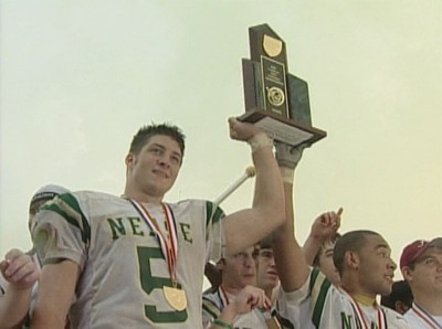 Tim Tebow in High School (2005) dang that's the same year my brother graduated high school! then again they are the same age!! FREAKY