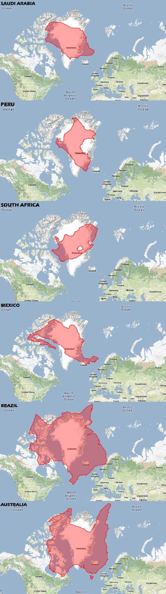 Population Map Australia%0A Poner algunos pa  ses en los que Groenlandia est   en un Mercator MapCLICK  AQU   PARA M  S MAPAS    TumblrMapsEnvelopes
