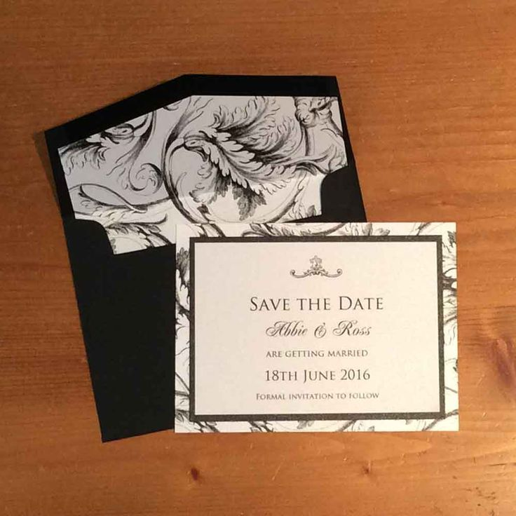 Patterned Save the Date Cards