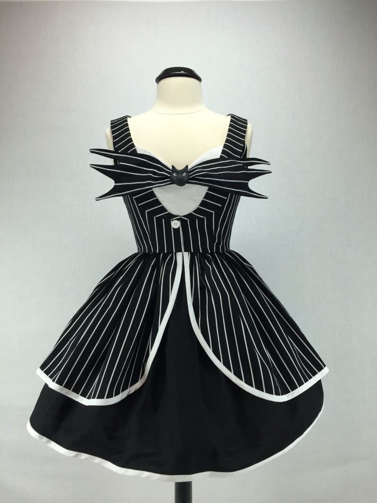 The Nightmare Before Christmas Jack Skellington Inspired Handmade Halloween Tuxedo Dress Full Gathered Skirt Pin Up Cosplay by ActionPink on Etsy https://www.etsy.com/listing/475689241/the-nightmare-before-christmas-jack