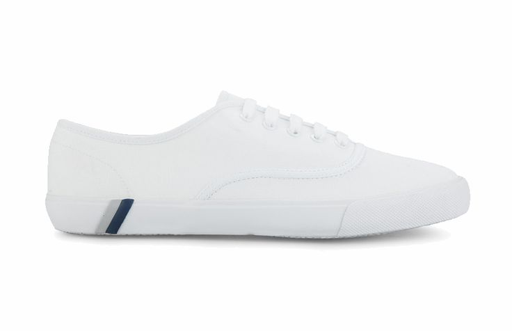 Lace Up Canvas Sneaker With 2 Stripe Foxing by ZALORA. All white Shoes with a modern design made from selection canvas material, with white color, strip details on the sole, all white color. Jazz up your casual outfit! http://www.zocko.com/z/JFbc0